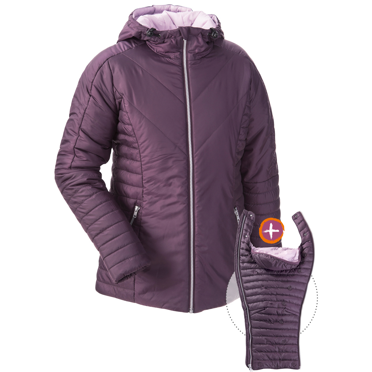 717892203663 Quilted Winter Jacket for Babywearing