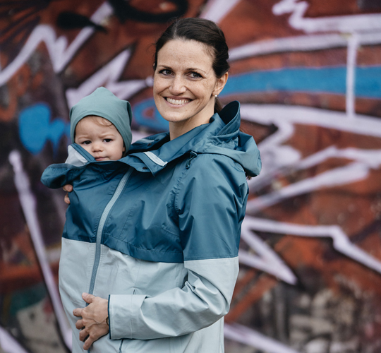 Babywearing jackets for mums